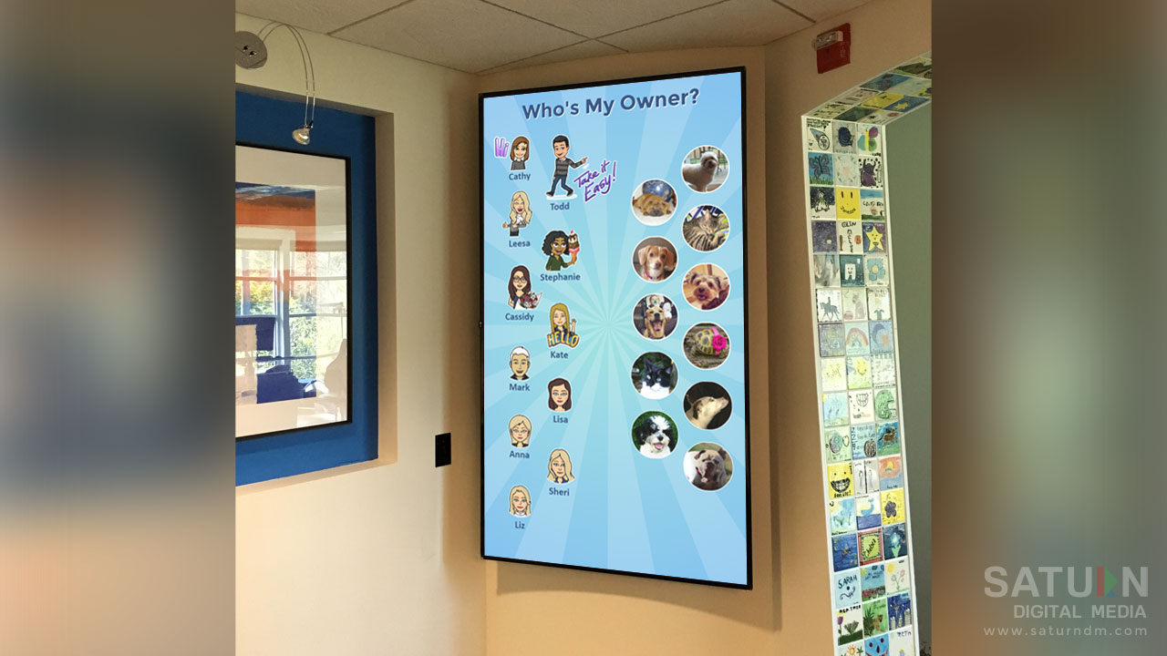 75 inch Digital Bulletin Board at Sammamish Orthodontics by Saturn Digital Media