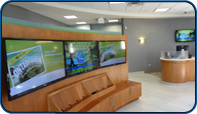 1x3 Video Wall installed by Saturn Digital Media at the new Libro Financial in London, Ontario.