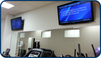 Saturn Digital Media installed digital signage at a Health and Fitness Centre that displays varrying informative content for its patrons.