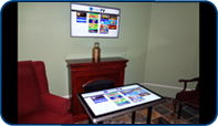 Screen installed at Longworth by Sifton as part of their game table in London, Ontario by Saturn Digital Media