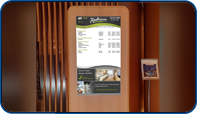 Main Lobby Kiosk Event Readerboard at Radisson Admiral Harbourfront Toronto by Saturn Digital Media