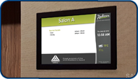 Meeting Room Screens at Radisson Admiral Harbourfront Toronto by Saturn Digital Media
